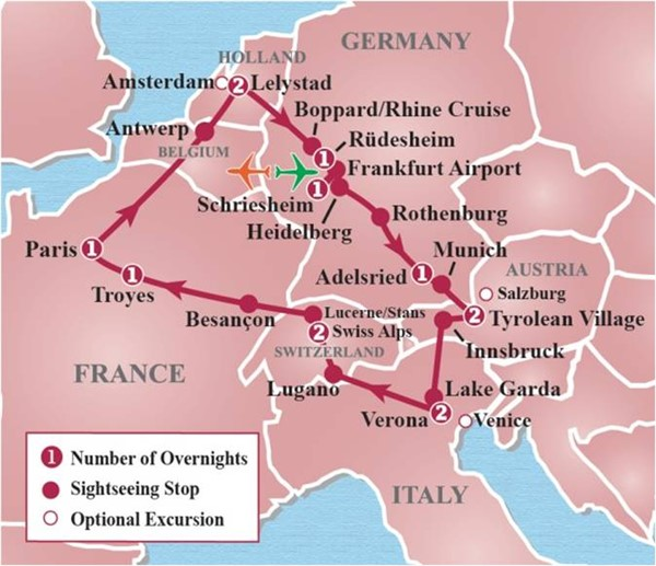 15-Day Heart of Europe Circle Tour